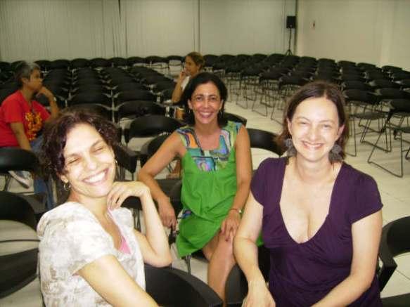 As meninas preparando Aracaju: Sonia Sobral, Christine Greiner e Lia Rodrigues